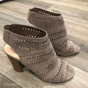 Women's open toe booties